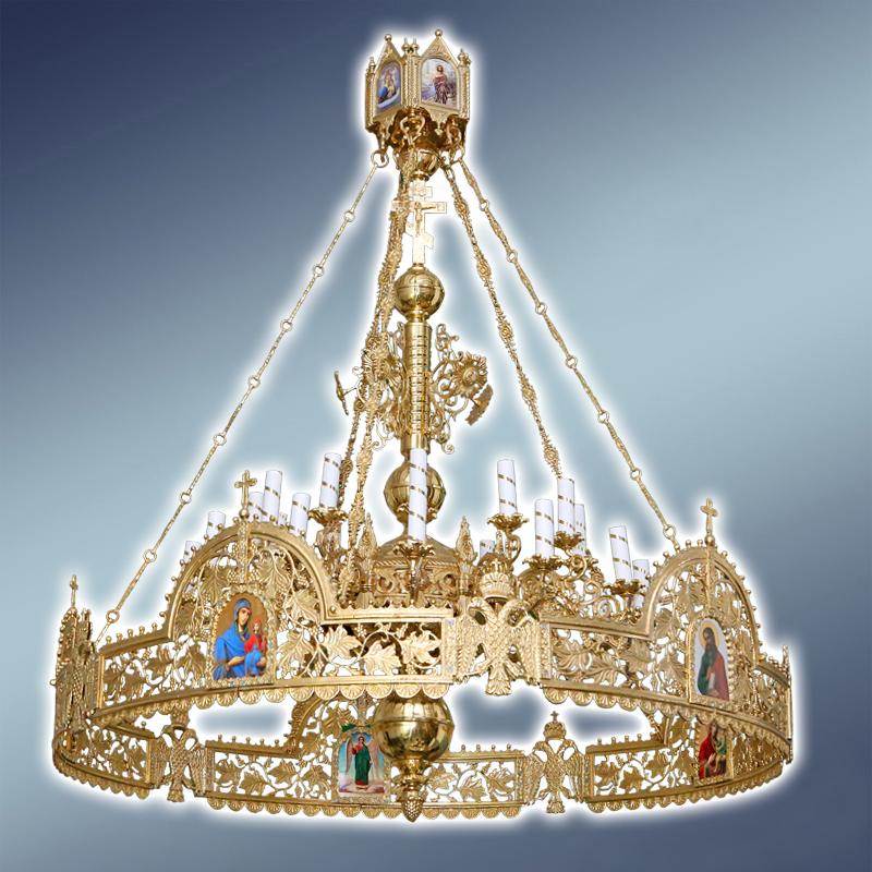 Полиелеј со орос - цена- 2.500 евра- шифра- 50 - 24 свеќи