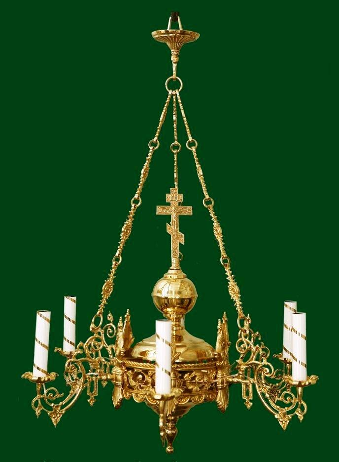 Полиелеј - цена-350 евра- шифра 44 - 6 свеќи