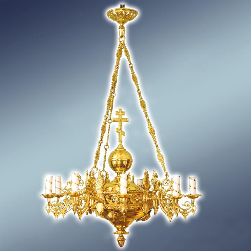 Полиелеј - цена-550 евра-шифра-9 - 9 свеќи