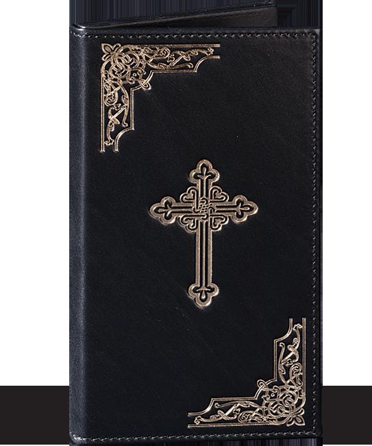 Свештенички крст во кожена црна футрола - 45 евра