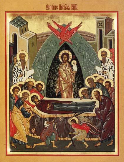 Успение на Пресвета Богородица, икона